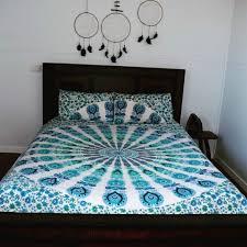 indian mandala bed sheet cotton bedding queen size tapestry hippie 2 pillow set jvjrh04