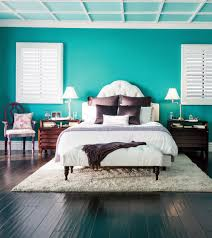 zen colors bedroom design: pretty purple accents with bold bright teal walls creates a vibrant yet zen like space they were destined to be perfect for a bedroom