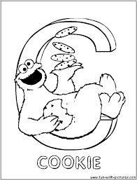 Elmo And Cookie Monster Coloring Pages To Print To Pages