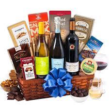vineyard tour trio wine gift basket