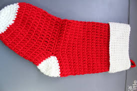 Crochet Stocking Pattern Interesting How To Crochet Christmas Stocking Cuff YouTube