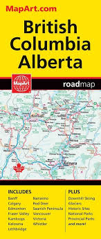 Alberta Distance Chart Bc Alberta Travel Road Map