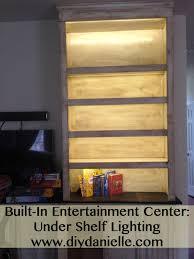 built in entertainment center lighting