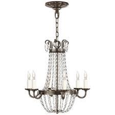 visual comfort paris flea market six light chandelier