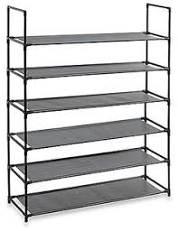 Home Basics 10 Tier Coated Non Woven Shoe Rack Home Basics 100Tier Coated NonWoven Shoe Rack in Grey 13