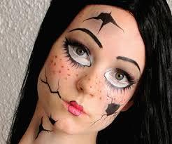broken doll costume temporary tattoos