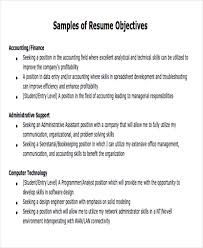 Sample Resume Objectives For Students Objective For A Job Magdalene Project Org