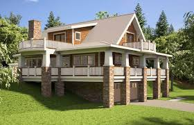 hillside house plans with walkout basement lake house floor plans