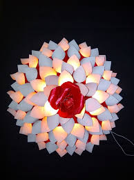 Paper Flower Lamp Paper Dahlia Lamp 12 Steps With Pictures