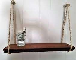 charming rustic wooden shelf hanging natural wood mahogany sustainable reclaimed solid shelving modern beach boho kitchen