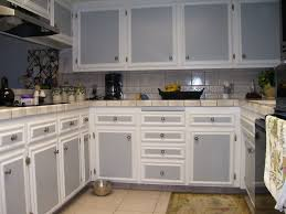 Two Tone Kitchen Cabinets Grey And White Dark Color Soft Green Paint