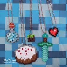 valentine diy minecraft necklaces we love minecraft in this house and nothing says tween valentine s day fun than fuse beads and a little party