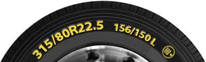 22 5 Tire Diameter Chart Truck And Bus Tyre Size Designations