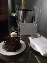 Birthday Cake And Champagne Delivered By The Hotel Perfect Stay