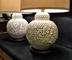 pair of blanc de chine lamps by seyei