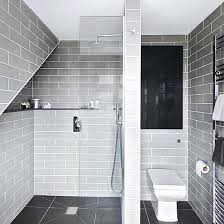 grey white tiles grey bathroom with floor to ceiling tiles large white tiles grey grout bathroom