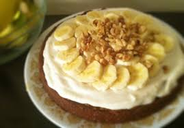 Fresh From The Oven Banana Cake With Vegan Cream Cheese Frosting