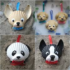 I also ADORE these Shell Dog Ornaments from Etsy!