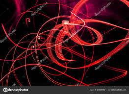 Light Bright Patterns Bright Red Spiral Patterns Light Strips Black Background