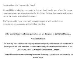 Cover Letter To Disney The Application