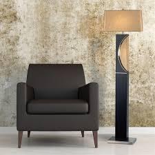 2 light half moon floor lamp dark brown wood