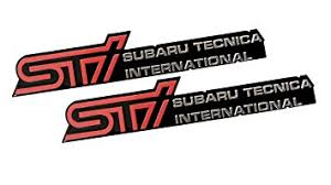subaru tecnica international logo. Beautiful Logo 2 X Pair  Set STi Subaru Technica International Aluminum Engine Hood  Emblem Badge Inside Tecnica Logo A