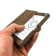 wooden business cards wood business card case