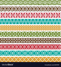 Border Patterns New Moroccan Border Patterns Royalty Free Vector Image