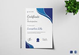 Chess Participation Certificate Template