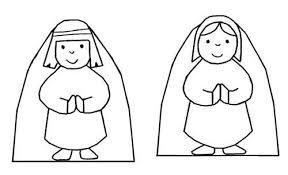 Kleurplaat Kerstfiguren Dick Bruna Kerst Winter Christmas