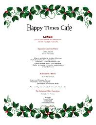 Holiday Menu Holiday Lunch Catering Menu