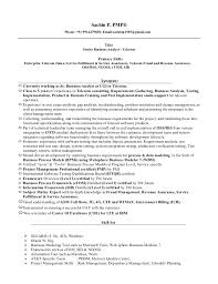 sample ba resume