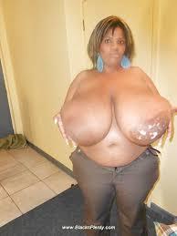 Boob ebony fat huge