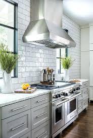 white glazed kitchen tiles with gray grout light subway tile kitchens