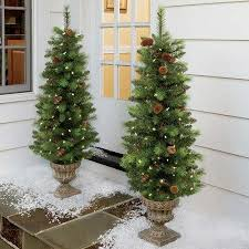 artificial entrance tree battery operated ad 4166507 in front door trees