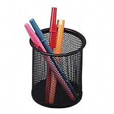 Amazon.com : niceEshop Steel Mesh Pencil Cup, Black : Pencil Holders :  Office Products