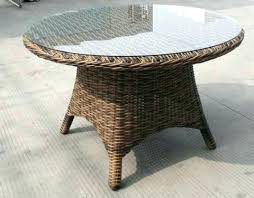 round wicker dining table dining table with rattan chairs glass top dining table with wicker