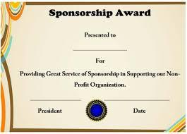 Free Appreciation Certificates 12 Elegant Certificates Of Appreciation For Sponsorship
