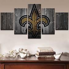 football wall decor lovely new orleans saints american football team 5 piece canvas
