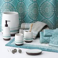 brown and blue bathroom accessories. Wonderful Blue Merveilleux Sonoma Goods For Life Tiburon Bathroom Accessories Collection  On Surprising Blue In Brown And D