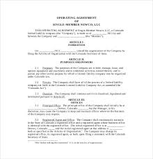 Hr Contract Templates Beauteous 48 Operating Agreement Templates Sample Example Format Download