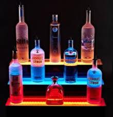 3 tier led liquor display by shindiggitcom led shelving best bar upgrade best mood lighting