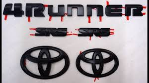 Toyota 4Runner Emblem Black Out Install - YouTube