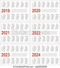 Horizontal Calendar Simple Horizontal Calendar For 2019 2020 2021 2022 2023 And 2024 Years