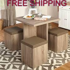 Kitchen Sets Furniture Kitchen Nook Dining Set Space Saving Table 4 Chairs Storage