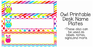 Table Labels Template 7 Best Of Owl Tables Labels Printable Free Example Table