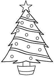 Small Picture Star on Top Christmas Trees Coloring Pages Color Luna