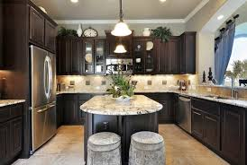 kitchen floor tiles with light cabinets. Unique Kitchen Dark Oak Kitchen Cabinets  Tips Awesome Design With U  Shaped Throughout Floor Tiles Light