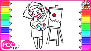 Artist Coloring Page How To Draw Coloring Spray Paint