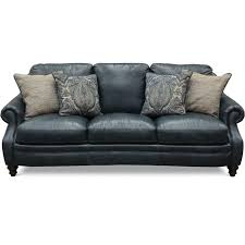 navy blue leather sofa. Classic Traditional Navy Blue Leather Sofa - Admiral A